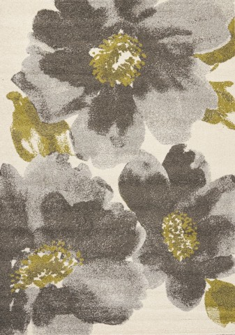 "Camino Grey Green Flowers 63"" Rug"