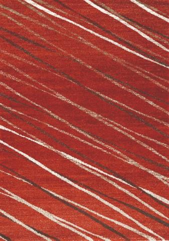 """Camino Diagonal Red Ribbons 94"""" Rug"""