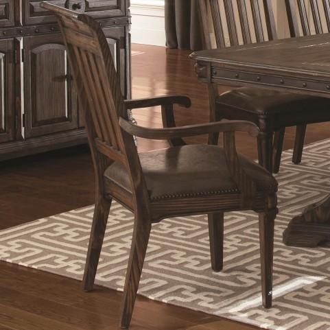 Carlsbad Dark Brown Dining Arm Chair Set of 2
