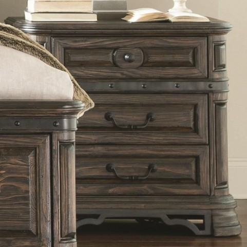 Carlsbad Dark Brown 3 Drawer Nightstand