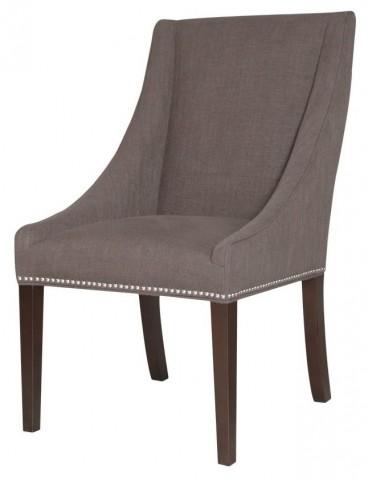 Carson Espresso Sepia Fabric Dining Chair