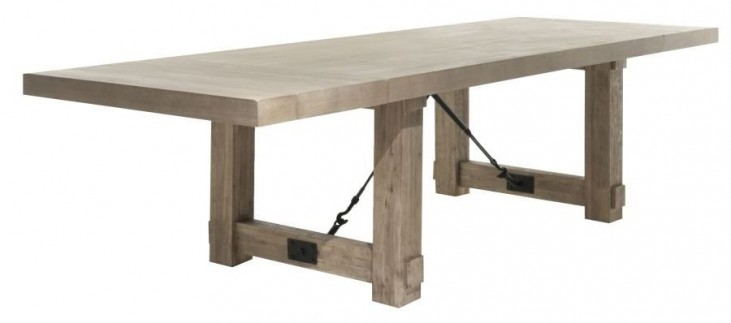 Carter Stone Wash Rectangular Extendable Dining Table