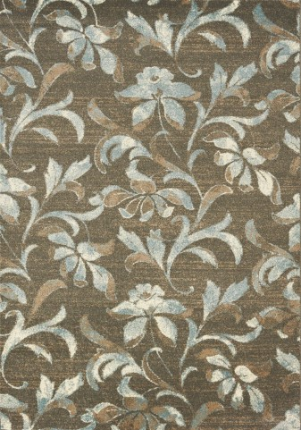 Casa Brown/Cream/Grey Flower Medium Rug