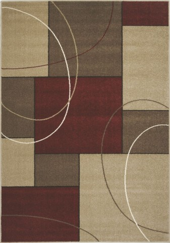 "Casa Familiar Red 47"" Frieze Rug"