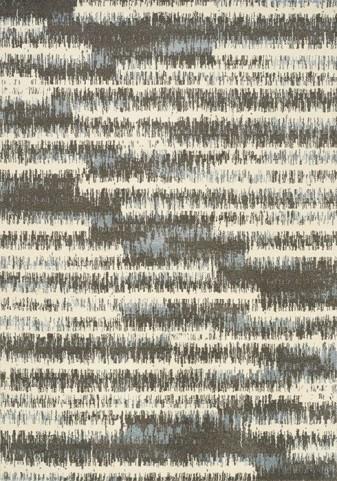 Casa Cream and Grey Pencil Stripes Medium Rug