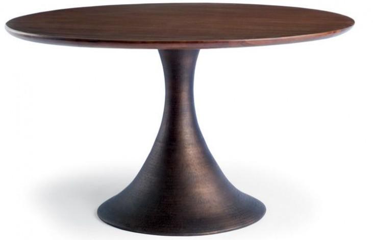 Casablanca Walnut Round Dining Table