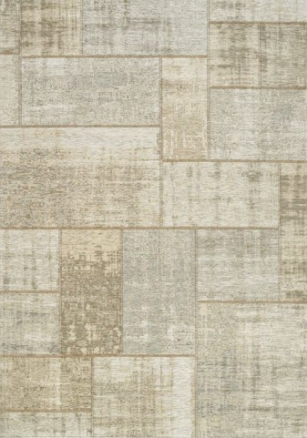 Cathedral Cream and Grey Distressed Patchwork Large Rug