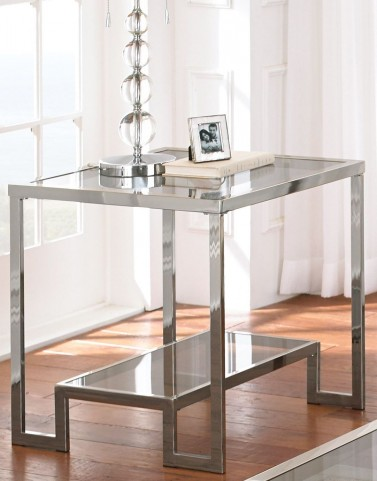 Churchill Glass Top End Table