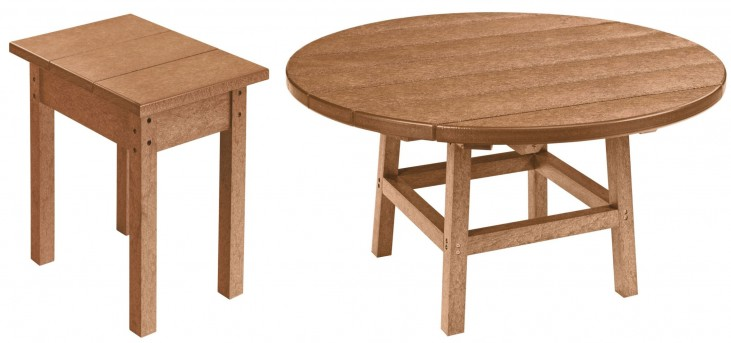 "Generations Cedar 37"" Round Occasional Table Set"