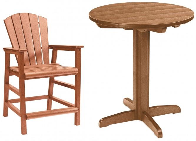 "Generations Cedar 32"" Round Pedestal Pub Set"
