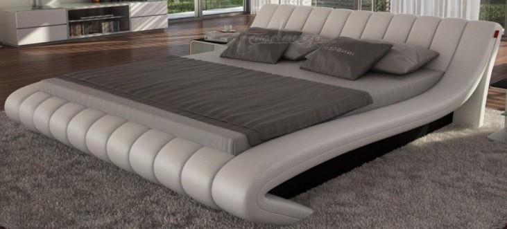 Celeste Light Grey King Platform Bed