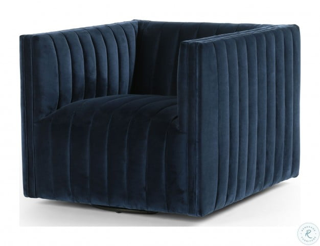 Awesome Grayson Sapphire Navy Augustine Swivel Chair Evergreenethics Interior Chair Design Evergreenethicsorg