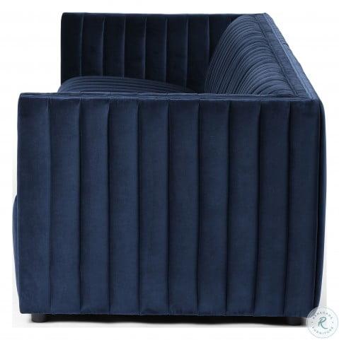Outstanding Grayson Sapphire Navy 96 Augustine Living Room Set Short Links Chair Design For Home Short Linksinfo