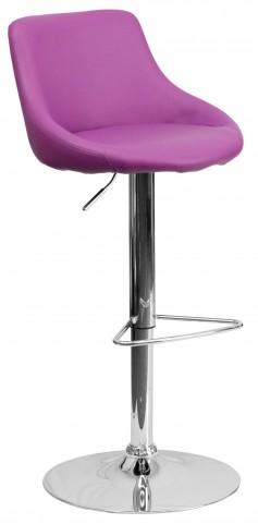 1000593 Purple Vinyl Bucket Seat Adjustable Height Bar Stool