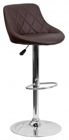 1000598 Brown Vinyl Bucket Seat Adjustable Height Bar Stool