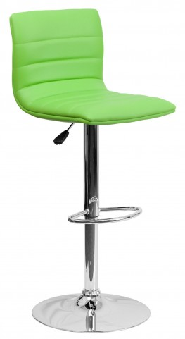 1000609 Green Vinyl Adjustable Height Bar Stool