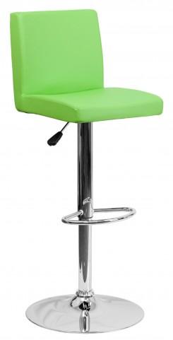 1000618 Green Vinyl Adjustable Height Bar Stool