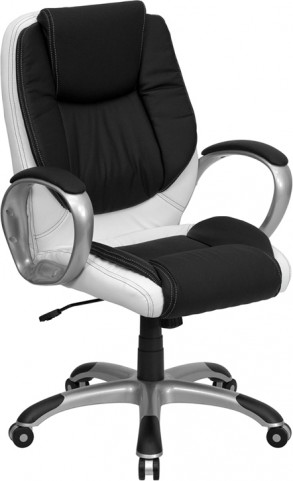 1000627 Black and White Executive Swivel Office Chair
