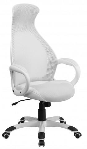 High Back Executive White Chair