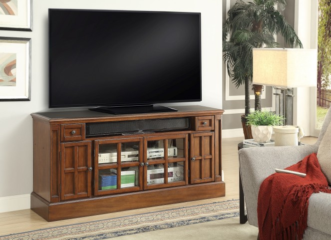 """Churchill Musket 62"""" TV Console With Power Center"""