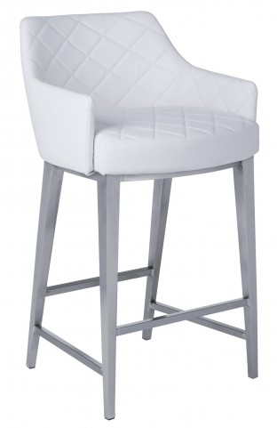Chase White Counter Stool