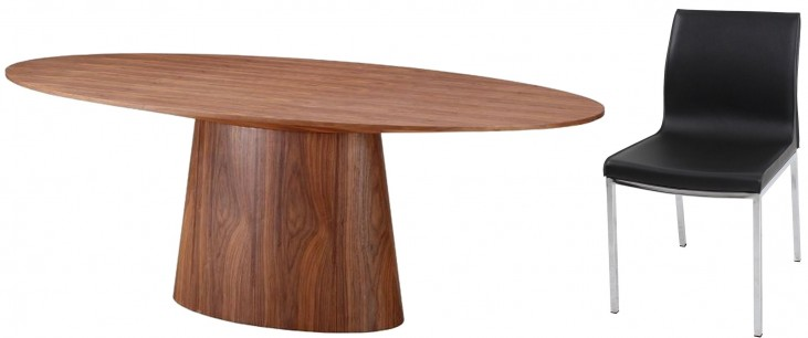 Chelsea Walnut Oval Dining Room Set