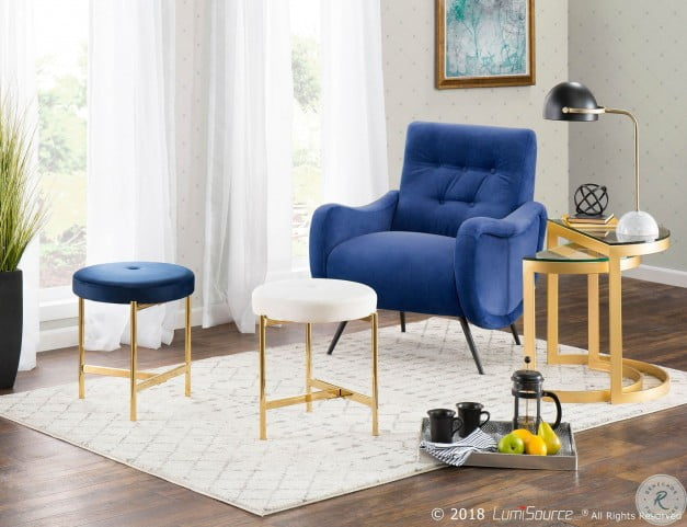 Pleasing Chloe White And Gold Vanity Stool Caraccident5 Cool Chair Designs And Ideas Caraccident5Info