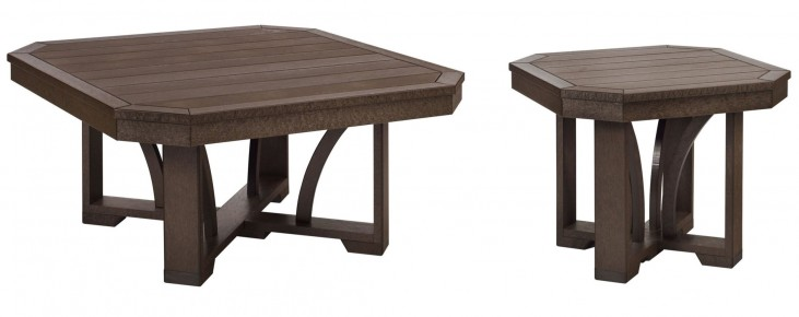 "St Tropez Chocolate 35"" Occasional Table Set"
