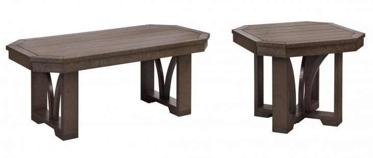 "St Tropez Chocolate 42"" Occasional Table Set"