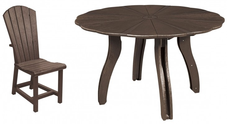 """Generations Chocolate 52"""" Scalloped Round Dining Room Set"""