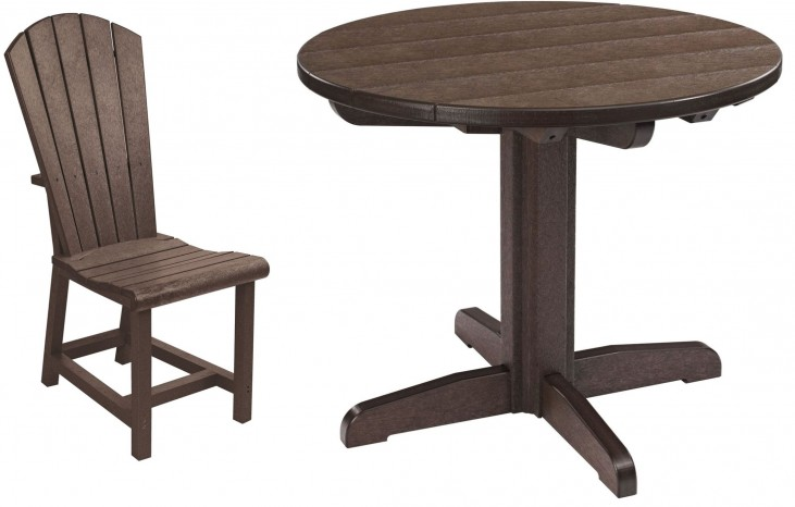 "Generations Chocolate 32"" Round Pedestal Dining Room Set"