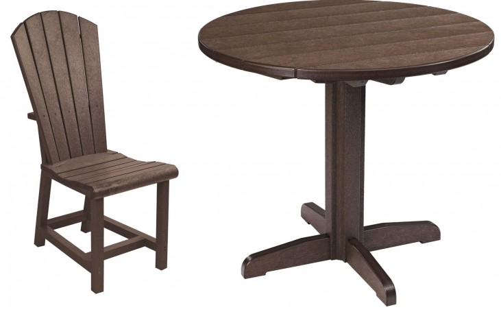 "Generations Chocolate 37"" Round Pedestal Dining Room Set"
