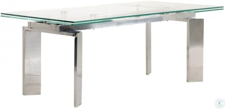 Chrono Stainless Steel Extendable Dining Table From Star International Coleman Furniture
