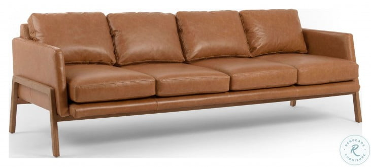 Kensington Diana 93 Sonoma Butterscotch Leather Sofa From Fourhands Coleman Furniture