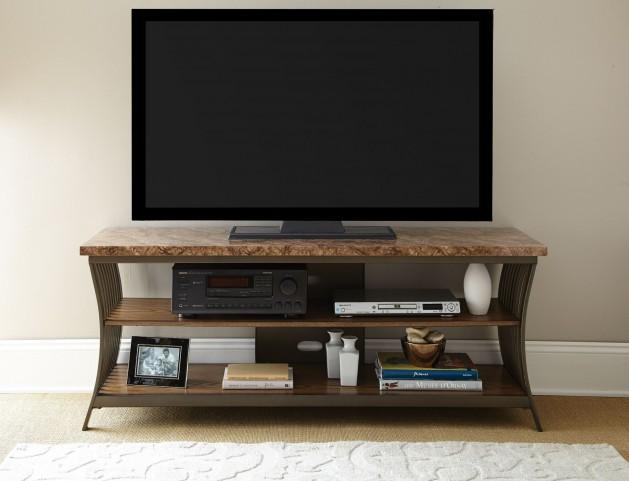Collison Faux Marble Top TV Console