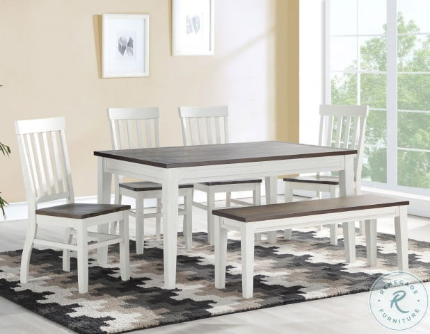 Caylie Ivory And Driftwood Fix Top Dining Table From Steve Silver Coleman Furniture