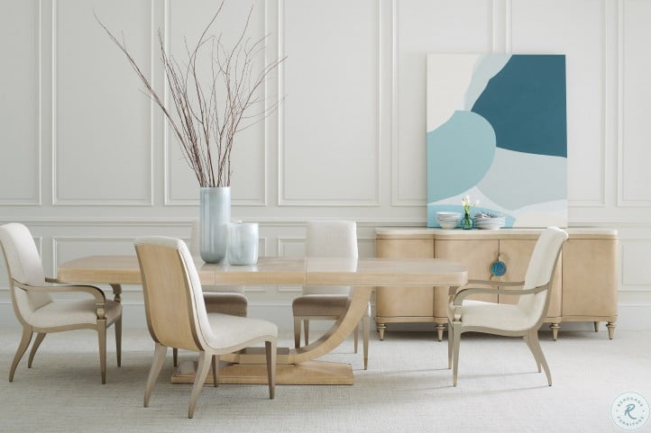 Caracole Classic Art Deco Light Oak Extendable Dining Room Set From Caracole Coleman Furniture