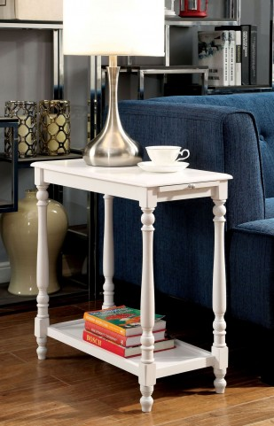 Deering White Side Table