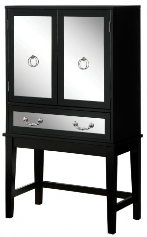 Caris Black Wine Cabinet