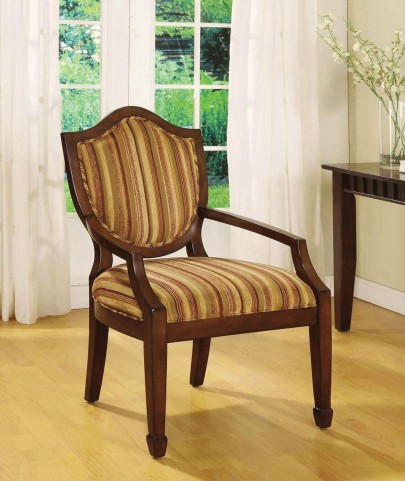 Bernetta I Dark Walnut Fabric Accent Chair
