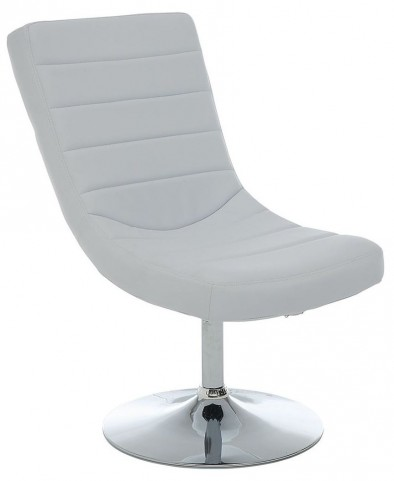 Valerie White Lounge Chair With Ottoman