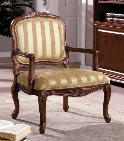 Burnaby Antique Oak Accent Chair