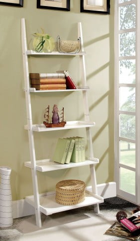 Sion White Ladder Shelf