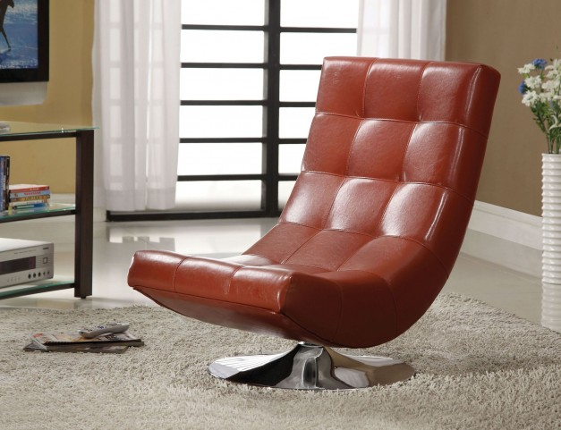 Trinidad Mahogany Red Swivel Accent Chair