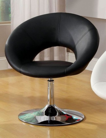 Faliro Black Swivel Accent Chair