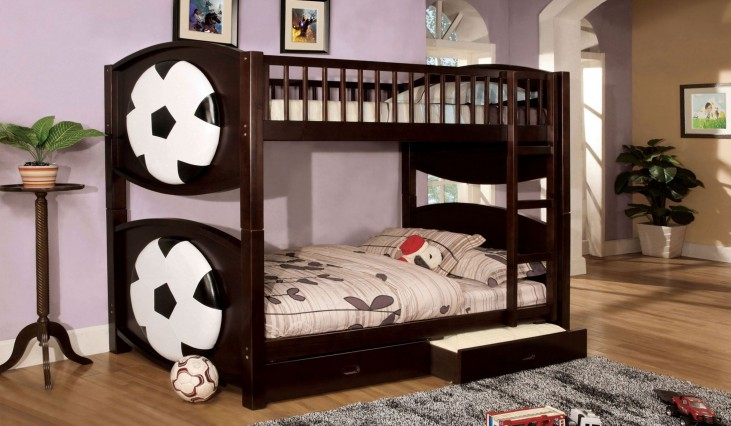 Olympic II Soccer Twin Over Twin Bunk Bed