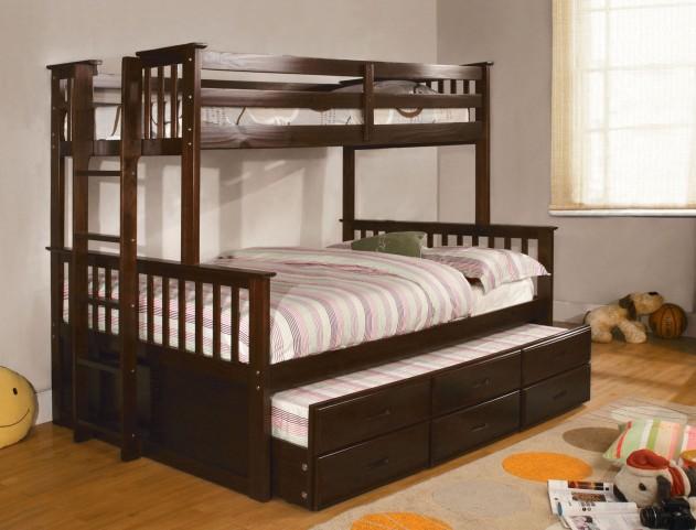University I Espresso Twin Over Full Bunk Bed