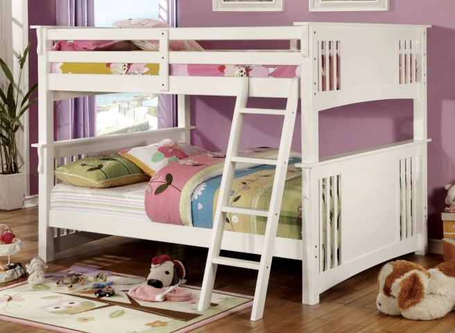Spring Creek White Full Over Full Bunk Bed