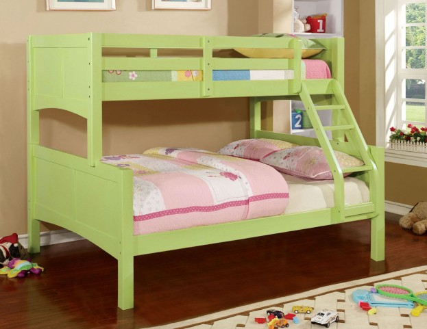 Prismo II Green Twin Over Full Bunk Bed