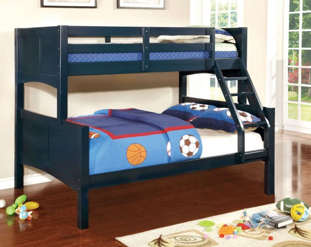Prismo II Blue Twin Over Full Bunk Bed